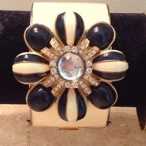 Vintage Black and White J. CREW cuff bracelet